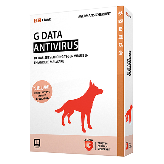 G Data antivirus 2016 3 Postes 1 an 71232/GDATA/3P/1A