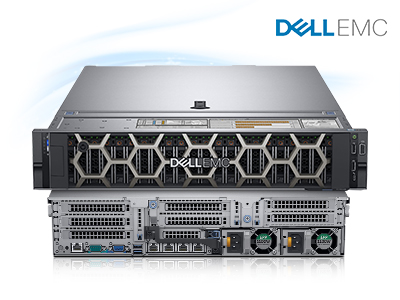 Poweredge R740 serveur a double processeurs 128 GB RAM HDD 3X 300GGb SAS 210-AKXJ-C1