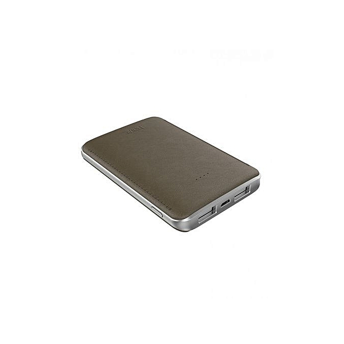 Power Bank Slim charge rapide 5000mAh Original Design Elégant Marron