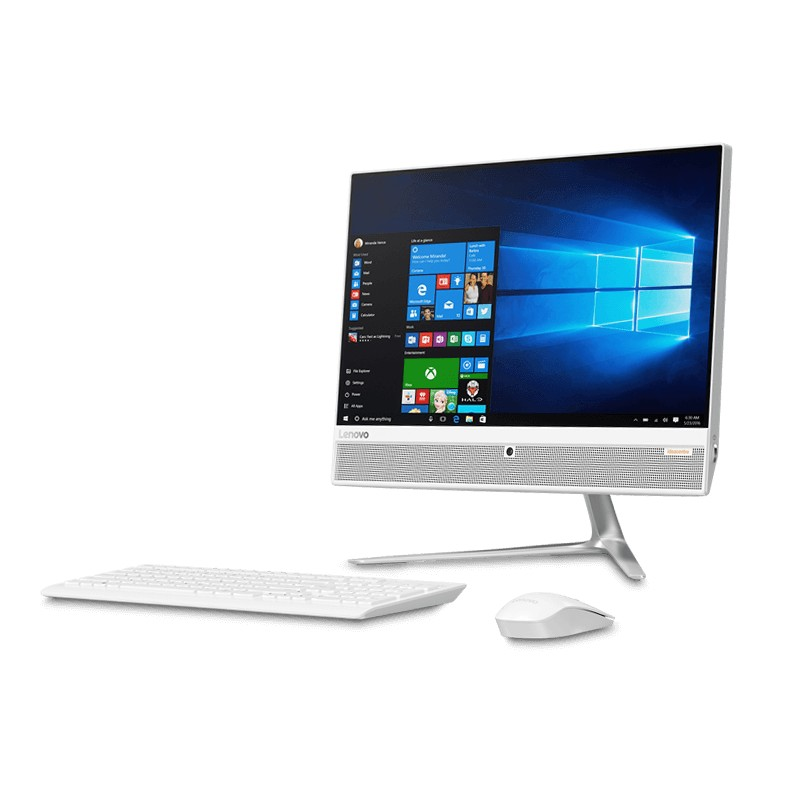 "PC de Bureau AIO 510 I3-7100T 21,5"" 4GB 1TB Freedos Blanc"