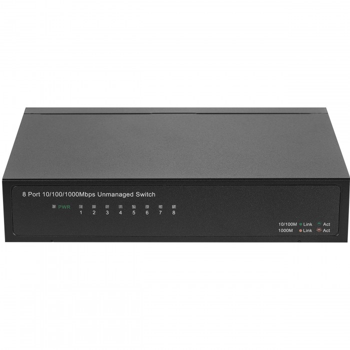 Switch 8 Ports 10/100/1000 Mbps (Auto MDI / MDIX) Rack S1508