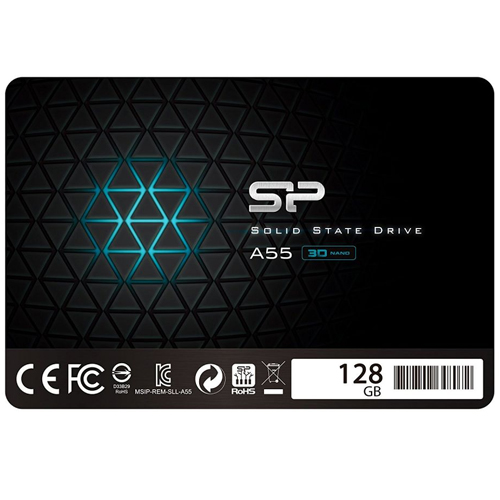 "DISQUE DUR SSD 128GB/256GB/512GB/1TB SILICON POWER A55 2.5"" SATA III SP128GBSS3A55S25"