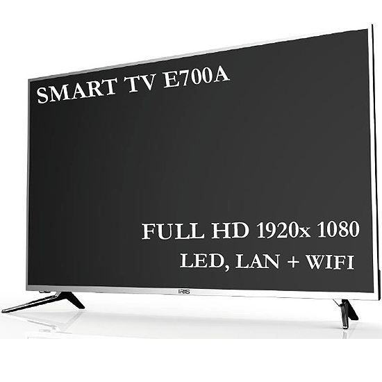 "TV FULL HD IRIS SAT LED 55"" WIFI LAN SUPER SLIM DESIGN E700A"